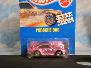 HOT WHEELS MATCHBOX GLEAM TEAM PORSCHE 959 PINK