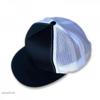 MESH TRUCKER CAP COLORED FRONT   BLACK BLACK WHITE