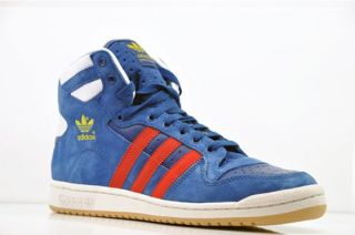 Adidas Decade HI Blau Rot Gr 46 UK 11 * Top Ten Forum Hi Top Sneaker