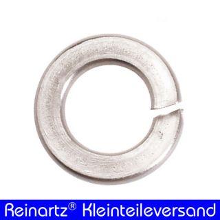 100 V2A Federringe M10 DIN 127 Edelstahl NEU A2