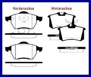 BREMSE BREMSEN SET vorne + hinten VW SHARAN 2.8 VR6 Bremsscheiben