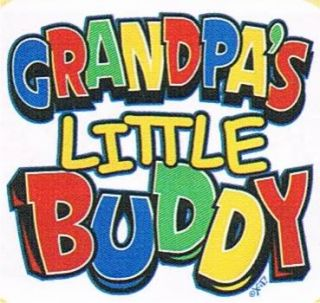 GRANDPAS LITTLE BUDDY Girls Boys Family Humor Children Funny Kids T