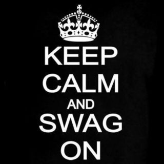 KEEP CALM AND SWAG ON T Shirt Crown #SWAGG Drake YOLO Jersey Music