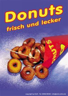 Plakate DIN A1 Donuts Donut Werbung Kundenstopper