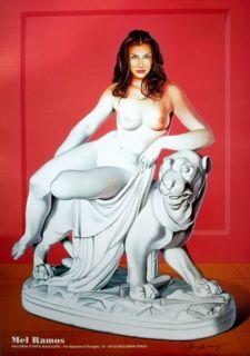 Mel Ramos : erotische Offset LITHOGRAFIE , handsigniert , Villa Stuck