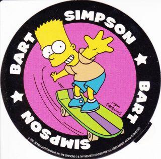 Simpsons Bart Simpson Sticker/Aufkleber   2001   RAR