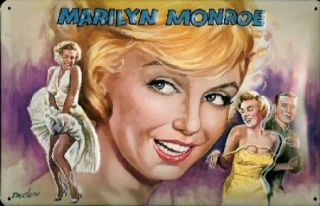 Hollywood Kino Marilyn Monroe Film Blech Schild 20x30cm
