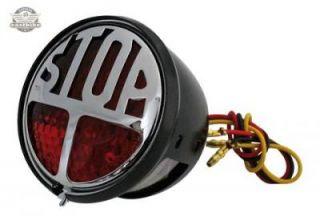 LED Rücklicht STOP Harley Custom Chopper Old School Bobber Vintage