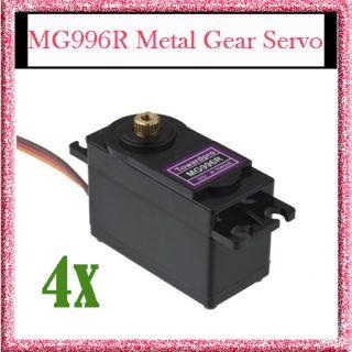 4X MG996R Metal Gear Digital Servo MG995 MG996 1/10 CAR