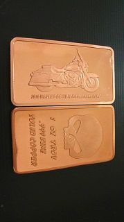 Harley Davidson 999 Kupferbarren Kupfer Copper Bar 1 oz Motorrad
