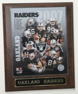2007 Oakland Raiders Team Plaque