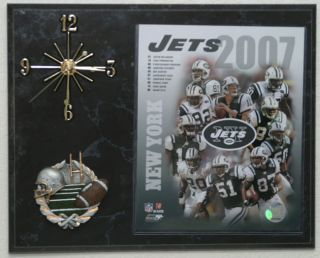 2007 New York Jets Team Picture Clock