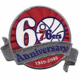 76ers 60th Anniversary Logo Patch (2008 09) Sports & Outdoors