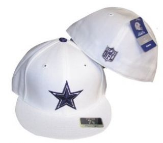 Dallas Cowboys Fitted Duran 2008 White Cap / Hat: Clothing