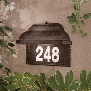 Minka 8000 61 PL Home Number Plate , Natural