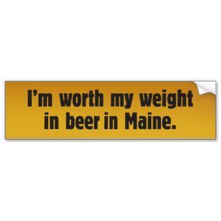 Beer Wife Maine Bumper Sticker