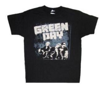 Green Day Band Sitting Tour 2009 Mens T Shirt (X Large