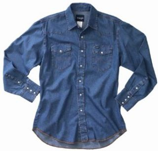 Wrangler Mens Cowboy Cut Work Western Long Sleeve Shirt