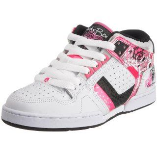 Womens NYC 83 Girls Skateboarding Shoe,White/Pink/Black,5 Shoes