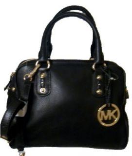 Michael Kors Black Leather Small Satchel Nwt Clothing