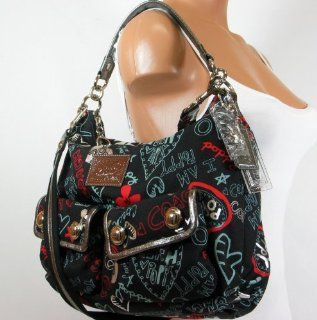 Limited Edition Graffiti Hearts Multi Pockets Shoulder Bag Shoes