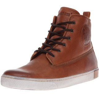 Mens AM02 High Top Fashion Sneaker,Brandy,43 EU(10 10.5 M US) Shoes