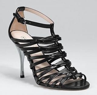 Coach Fantasia Strappy Sandal (Black, 6.5) Shoes