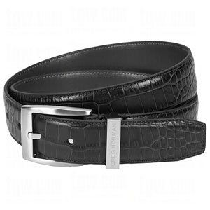 Greg Norman Mens Signature Dress Croco Leather Belts