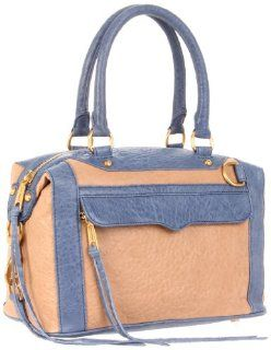 Minkoff Mab mini color block Shoulder Bag,Taupe/denim,One Size: Shoes