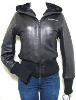 Baby Phat Reversible Leather Jacket Coat, Black, Medium