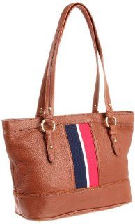 Tommy Hilfiger Pebble Leather Tote,Saddle,One Size Shoes