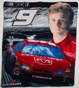 * KASEY KAHNE #9 NASCAR Auto Racing FLEECE THROW BLANKET