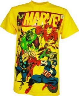 Marvel Avengers Foil Mens T Shirt Clothing