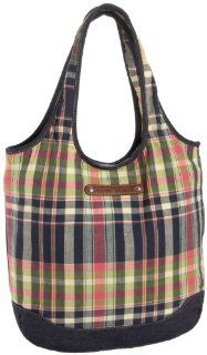 Tommy Hilfiger Plaid Easy Tote,Blue Plaid,one size Shoes