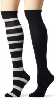 Jessica Simpson Womens 2 Pair Pack Stripe Knee High Socks