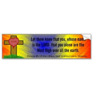 Psalms 83:18 Holy Bible New Intl Version Bumper Stickers