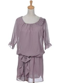 Anna Kaci S/M Fit Semi Sheer Dark Lilac Conservative