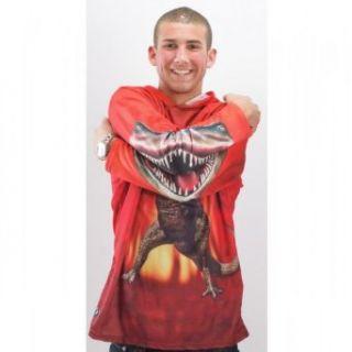 Adult T Rex Hoodie Shirt, XXL Clothing