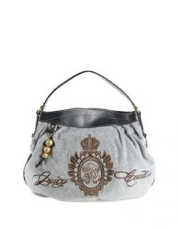 Womens Juicy Couture Purse Handbag Cozy Heather Grey