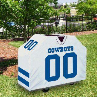 Dallas Cowboys White Jersey BBQ Grill Cover Sports