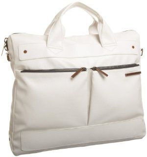 Matt & Nat Archive Streamline Briefcase,White,one size Shoes