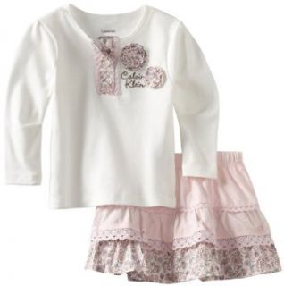 girls Infant Top With Scooter Set, White/pink, 18 Months Clothing