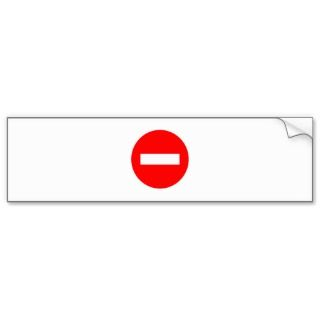 STOP Sign Products & Designs Bumper Sticker
