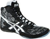 Asics Split Second 9 Wrestling Shoe Tattoo Black/White/Silver Shoes