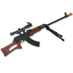 Air Spring Rifle with Bipod and Scope (Airsoft) Sports