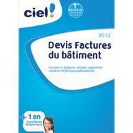 Ciel Devis Factures du Bâtiment 2013 + 1 an dassi à télécharger