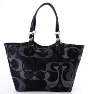 Coach Signature Optic Carly Shopper Bag Purse Tote 16911
