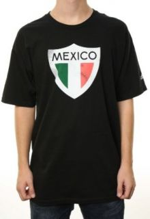Adidas Mens Mexico Soccer Team Black T Shirt W/Adidas