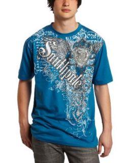 Southpole Mens Angled Vertical Logo Fashion T Shirt, Deep