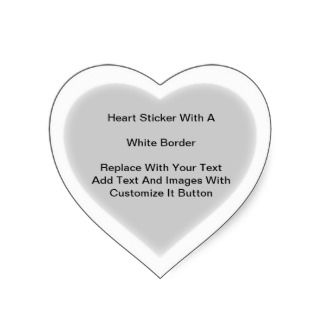 zazzle stickers start as plain white stickers of various shapes which